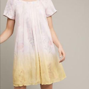 Anthropologie pastel dress